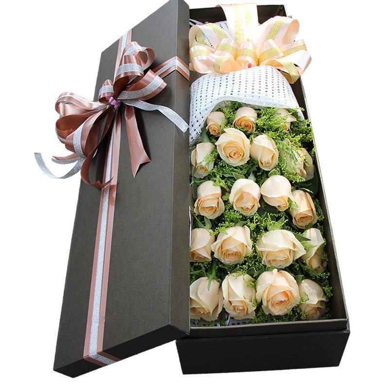黄英配花 包装:精美鲜花礼盒装,精致蝴蝶结 附送:免费附送精美贺卡,代