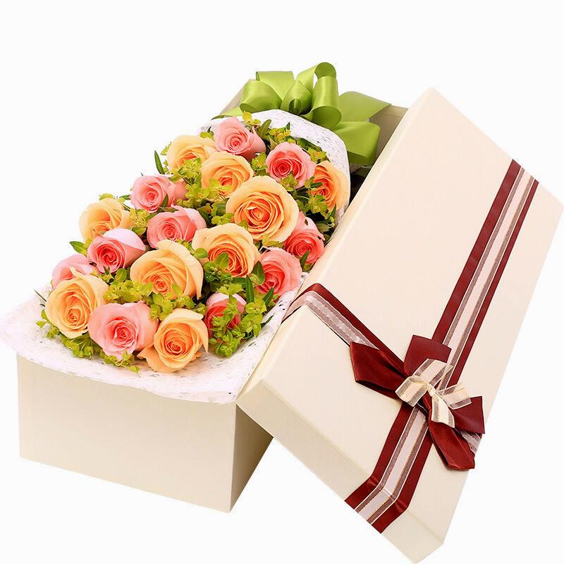 包装:米白色长方形礼盒. 附送:免费附送精美贺卡,代写您的祝福.